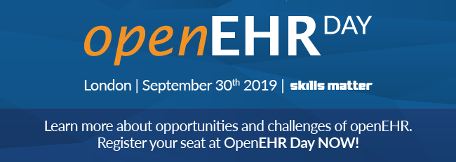 openEHR day 30 Sep 2019 London